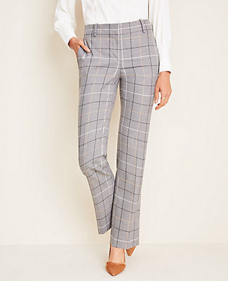 Ann Taylor The Petite Straight Pant in Windowpane