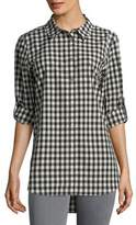 Calvin Klein Gingham Cotton Button-Down Shirt