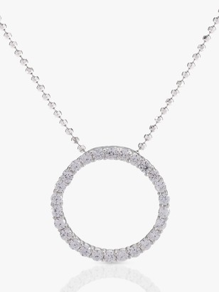 Sif Jakobs Jewellery Cubic Zirconia Circle Pendant Necklace, Silver