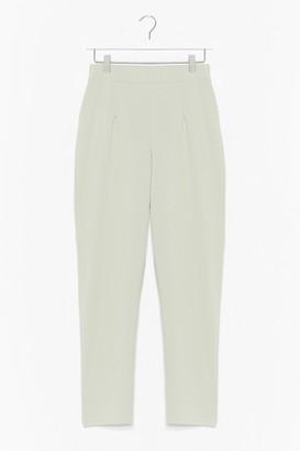 Nasty Gal Womens She's the Boss High-Waisted Tapered Trousers - Green - 14