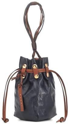 Marni Bindle leather clutch