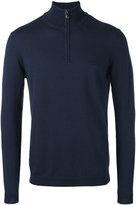 HUGO BOSS zip up sweater - men - Cotton/Virgin Wool - M