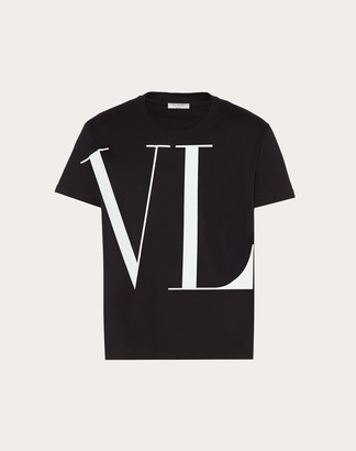 Valentino Macro Vltn T-shirt Man Black Cotton 100% XS