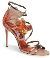 Jimmy Choo Women's Lolita Strappy Flower Sandal
