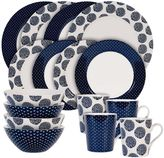 Maxwell & Williams Maxwell & WilliamsTM Flower/Arrow 16-Piece Dinnerware Set in Indigo/White