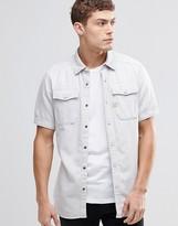G-star Landoh Denim Shirt Short Sleeve