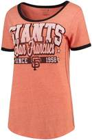 New Era Women's 5th & Ocean by Orange/Black San Francisco Giants Jersey Ringer Tri-Blend T-Shirt