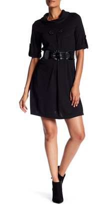 Papillon Belted Tab Sleeve Dress