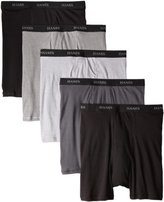 Hanes Men's 5-Pack Ultimate FreshIQ Boxer with ComfortFlex Waistband Brief,Black/Grey,Medium