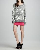 Alice + Olivia Brigitta Leather Miniskirt