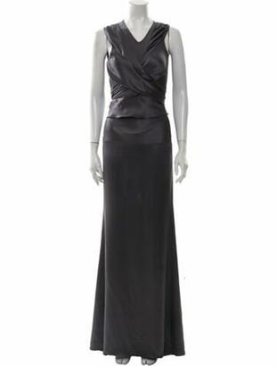 Vionnet Silk Long Dress Grey