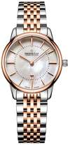 Dreyfuss & Co 1980 White Mother of Pearl Index Date Dial Two Tone Rose Gold Stainless Steel Strap Ladies Watch