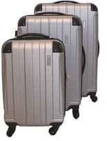 ICE CANADA 3-Piece made from ABS - Large, Medium and Carry On Suitcase with Wheels, Lock, and Telescopic Handle Luggage Spinner Hardside Lightweight Hard Side ABS