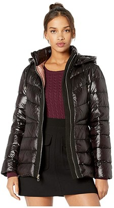 Kate Spade Zip-Up Down Jacket (Black 1) Women's Clothing