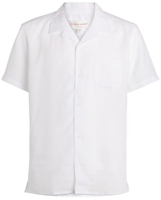 Derek Rose Linen Camp Collar Shirt