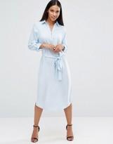 AX Paris Long Sleeve Midi Shirt Dress