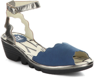 Fly London Pine Leather Wedge Sandal