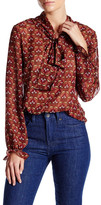 Lucy Paris V-Neck Long Sleeve Printed Blouse
