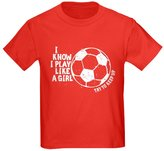 CafePress - I Know I Play Like A Girl - Youth Kids Cotton T-shirt