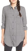 Cheap Monday 'Try' Houndstooth Flannel Shirt