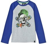 Animal Grey and Blue Ripp Tide Skull Graphic Tee