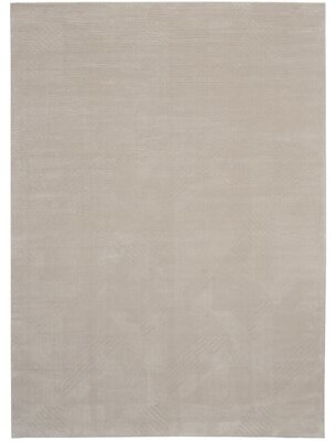 "Calvin Klein Orlando Modern Textured Gray/Beige Area Rug Rug Size: Rectangle 9'3"" x 12'9"""