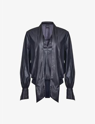 Pinko Adamo leather-look shirt body