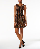 Connected Petite Animal Print A-line Dress
