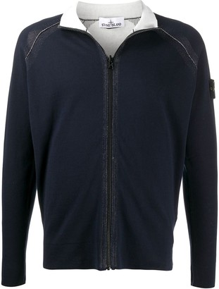 Stone Island Knitted Zipped Sweatshirt