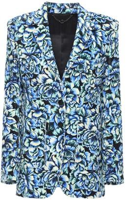 Paco Rabanne Printed Corduroy Single Breasted Blazer