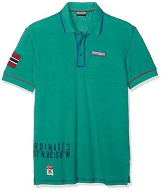 Napapijri Men's Elize Polo Shirt, Alhambra Green Ge2, (Size: XXX)