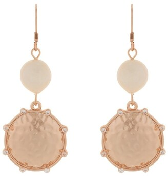 Mocha You Are Strong Earrings - Rose Gold