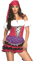 Leg Avenue Pink & Purple Crystal Ball Fortune Teller Costume Set - Women