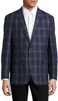 Tommy Hilfiger Plaid Linen Sports Jacket