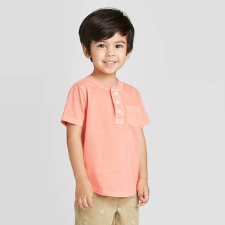 Osh Kosh Toddler Boys' Henley Pocket Knit T-Shirt - Peach