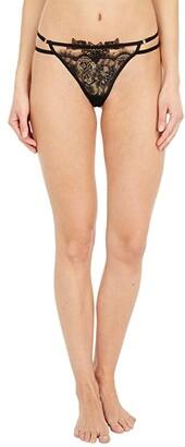 Bluebella Lumi Thong (Black) Women's Underwear