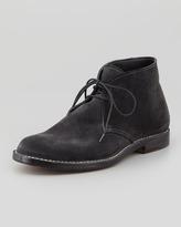 Bottega Veneta Suede Lace-Up Ankle Boot