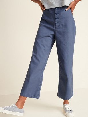 Old Navy Extra High-Waisted Button-Fly Crop Wide-Leg Pants for Women