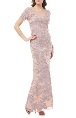 JS Collections Illusion Soutache Mermaid Gown