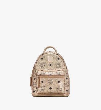 MCM Stark Bebe Boo Backpack in Studded Visetos