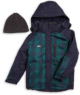 Hawke & Co Boys 8-20 Convertible 3-in-1 Layer Coat and Hat Set