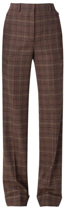Akris Flore High-Waisted Cashmere Check Pants