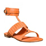 Max Studio Vellum - Waxed Leather Ankle Wrap Flat Sandals