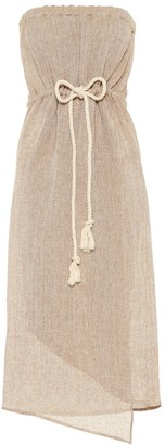 Lisa Marie Fernandez Victor strapless midi dress