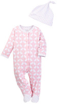 Offspring Bunny Footie & Hat Set (Baby Girls)