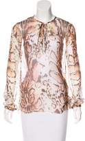L'Agence Printed Silk Blouse