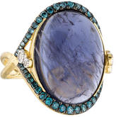 Jude Frances 18K Iolite & Diamond Quad Cocktail Ring
