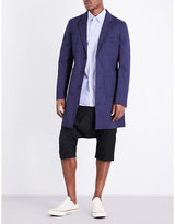 Comme Des Garcons Shirt Boys-print Relaxed-fit Cotton-drill Coat