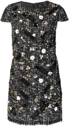 Elisabetta Franchi embellished textured dress