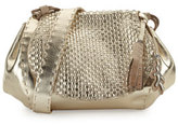 Henry Beguelin Molly Small Woven Messenger Bag, Gold